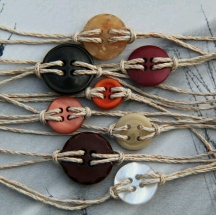 Hemp bracelet Button craft
