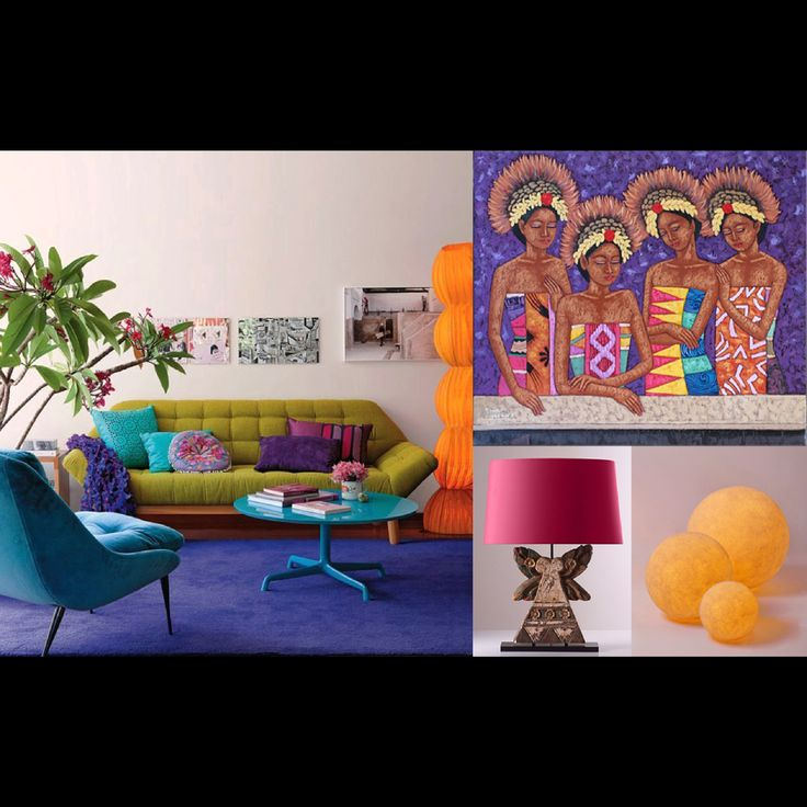 This is an example of a sitting corner with various fresh colours. You can match this interior composition with our collection of Sega Lamp on the table, and Ball Resin Lamps on the floor. #pimentrouge #bali #lighting #homedecor #interior #design #styling #elegant #lamps #magenta #purple #colourful #vibrant #newyear