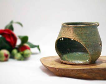 Handmade Candle holder, Ceramic Candle holder, Stoneware Candle holder
