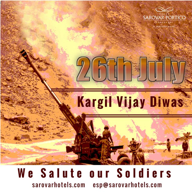 While wars are never welcome, some wars are inevitable. The Kargil war along the borders of India and Pakistan was one such. It was also one that.Kargil Day a day to remember India's war victory and to commemorate our fallen heroes. #Kargilwar #KargilDiwas #HotelStay #BestHotelinBhavnagar #SarovarBhavnagar #BhavnagarHotels #Hotels #BoutiqueHotel #LuxuryHotel #EfceeSarovarPortico