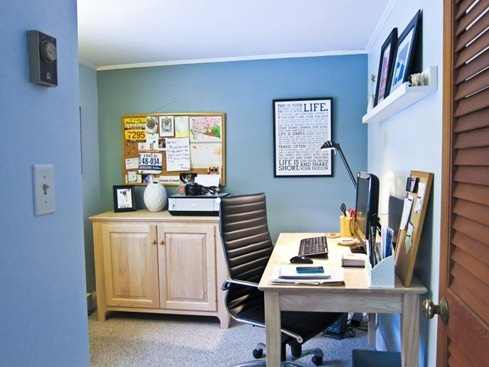 27 best images about home office on pinterest offices for Home office accent wall