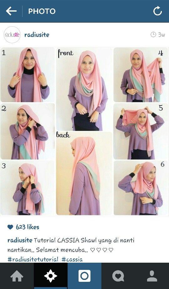 Radiusite :: hijab tutorial.. shawl type