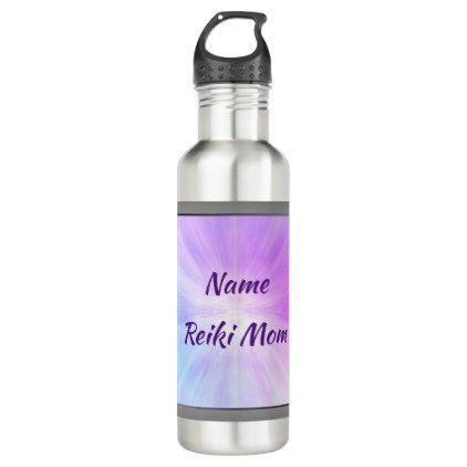 Reiki Mom personalised Water Bottle - birthday diy gift present custom ideas