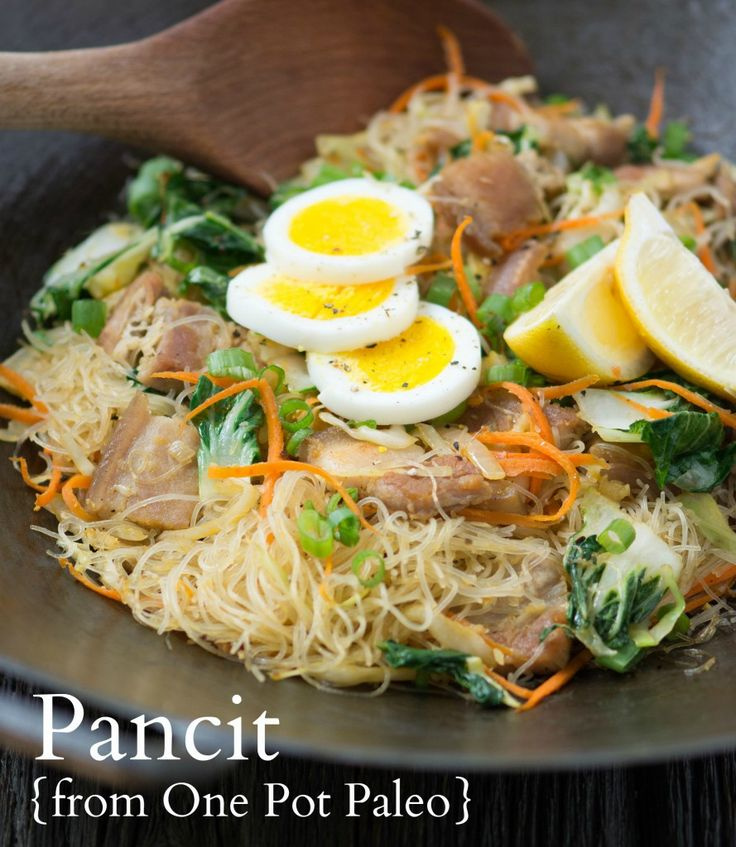 Paleo Pork and Shrimp Pancit