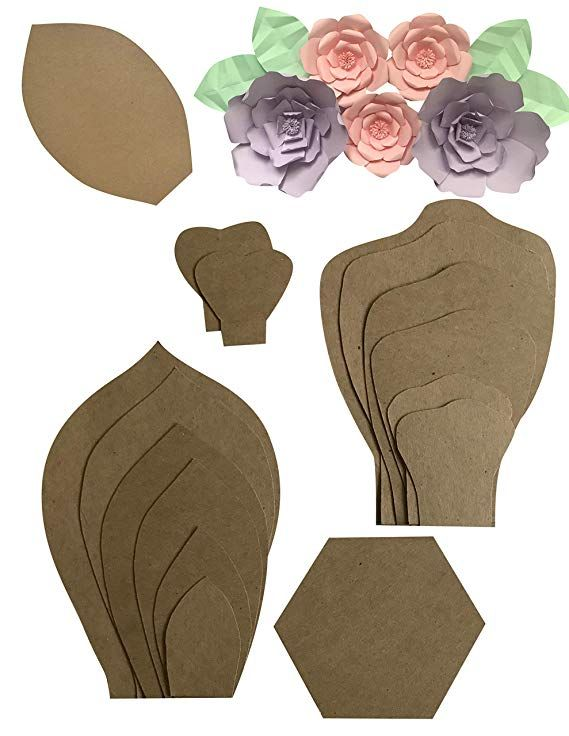 Paper Flower Template Kit Make Your Own Paper Flowers Paper Flowers Make