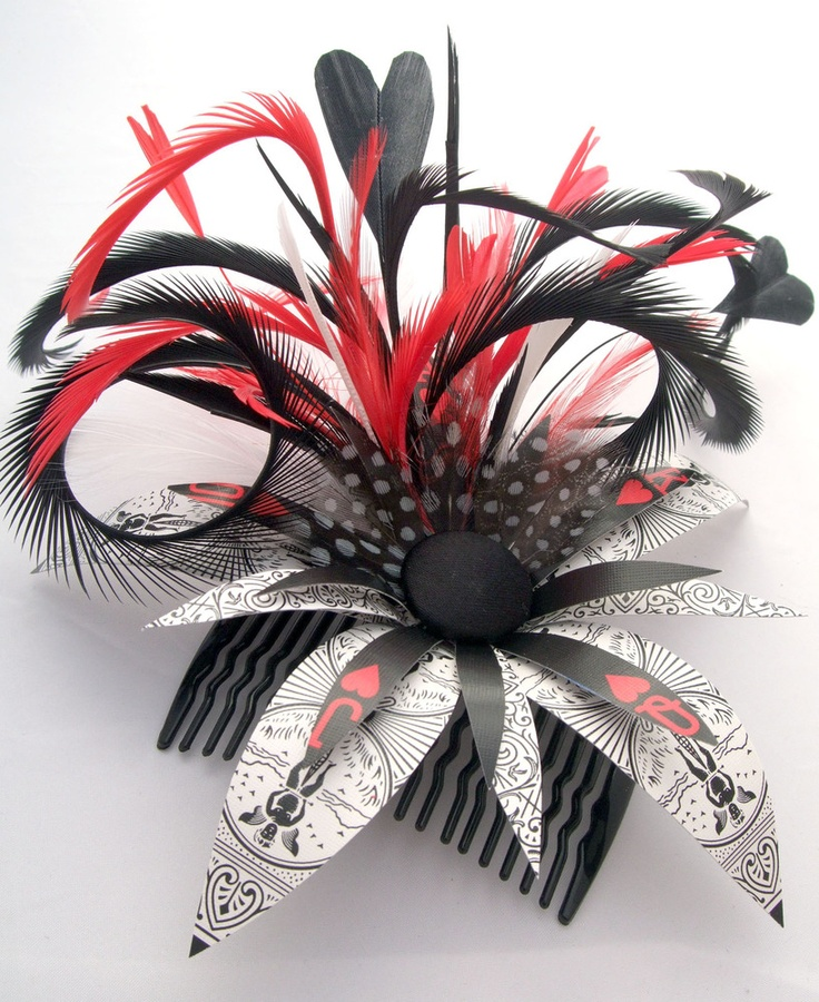 Sold another this weekend -  Image of Queen of Hearts Playing Card Hair Comb, Pin or Clip