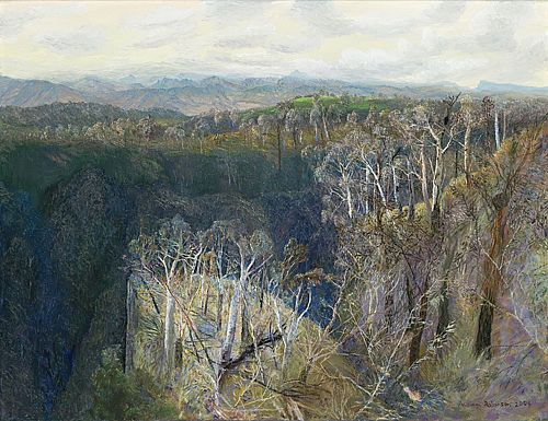 William Robinson | To Mount Flinders in Afternoon Light 2004  oil on canvas, 45 x 59 cm