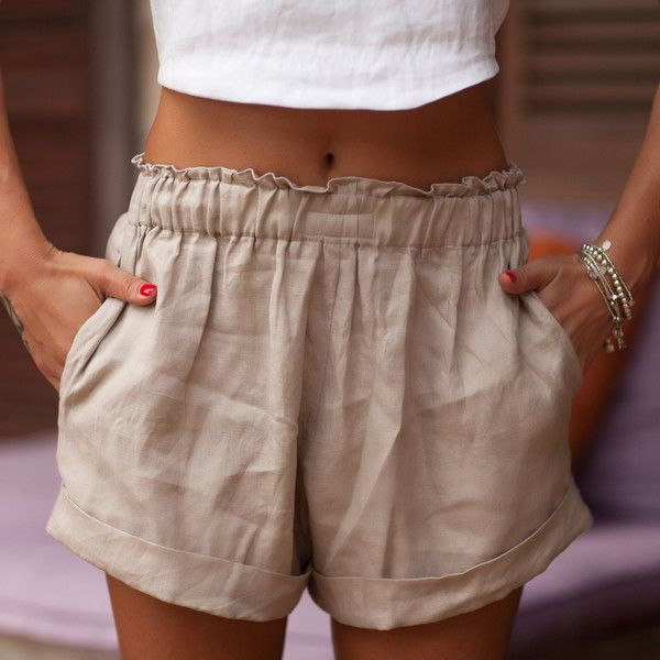 The 25  best Linen shorts ideas on Pinterest | Women's minimal ...