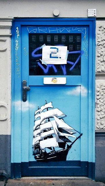 Door In St. Pauli, Hamburg, Germany·   By Cris Figueired♥
