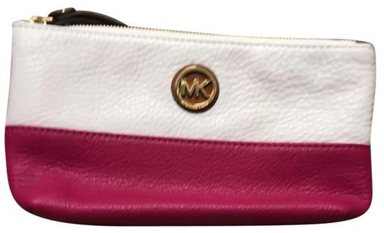 87e81559f618cc Get the trendiest Clutch of the season! The MICHAEL Michael Kors Ivory Pink  Leather Wristlet is a top 10 member favorite on Tradesy.