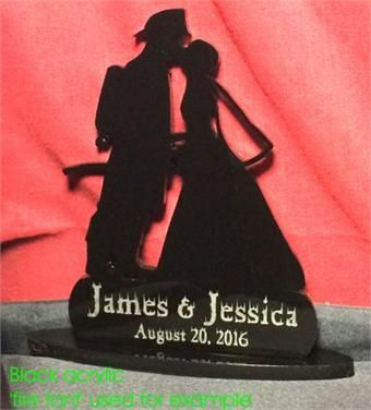 Firefighter Wedding Cake Topper, order your personalized topper at: http://www.best-engraving.com/firefighter-cake-topper.aspx