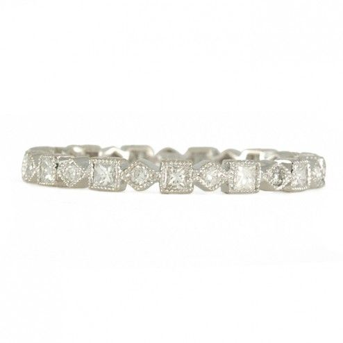 JOLIE DESIGNS- Alternating Princess Cut Diamond Band
