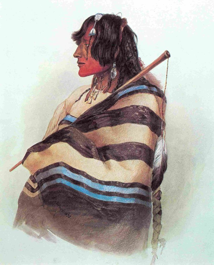 Trade Blanket In Blue Painting