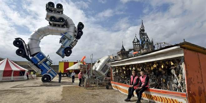 Banksy's Trailer for His Dismaland Theme Park