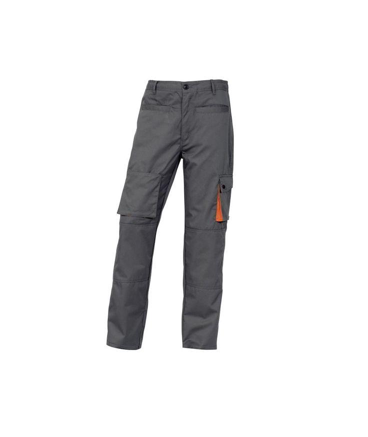 Pantalón de trabajo M2PAN Panoply Gris y naranja  Pantalones de trabajo de seguridad Pantalón de trabajo M2PANGR Panoply Gris y naranja  Pantalón. Cintura elástica en los laterales. 7 bolsillos, incluye 1 bolsillo para metro. Tejido 65% poliéster 35% algodón 245 g/m².
