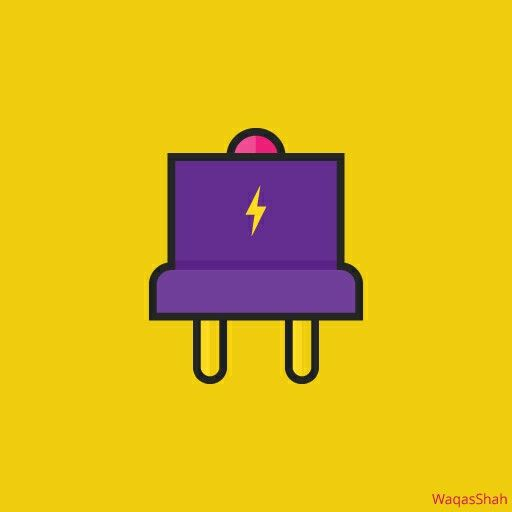 Plug Vector Icon in Linear Colorful Style #icondesign #Icon #design #plug #art #colorful #graphicdesign #illustration #vectorart Link to buy: http://shutr.bz/28ZBb3e