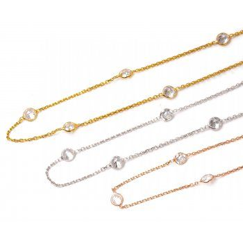 Lucky Eyes Chelsea collection Long Crystal necklace