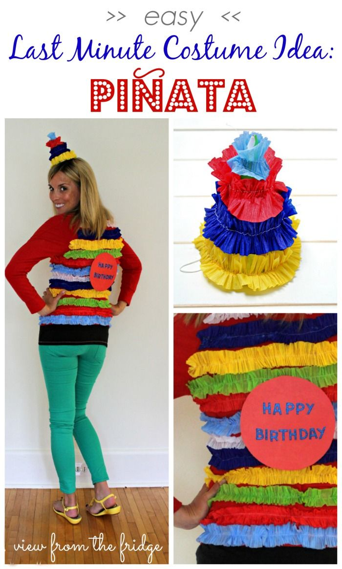 Easy Last Minute DIY Halloween Costume Piñata Last