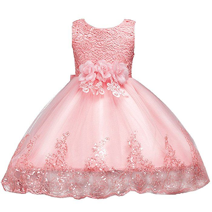 Champagne Flower Girl Kid Pageant Dance Ball Princess Party Prom Birthday Dress