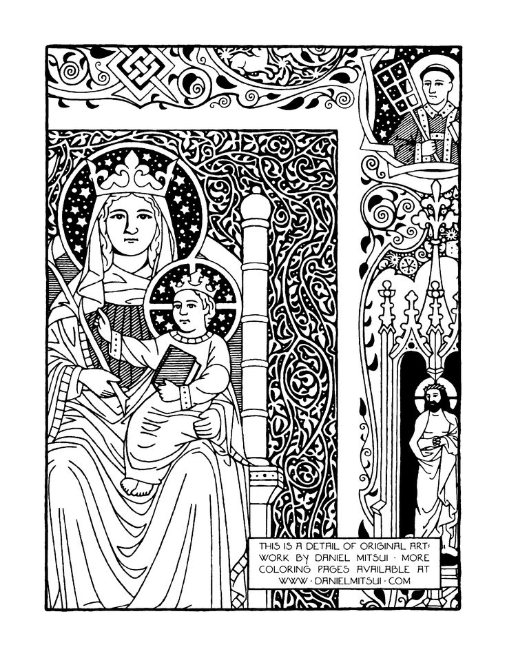 free catholic bible coloring pages - photo#36