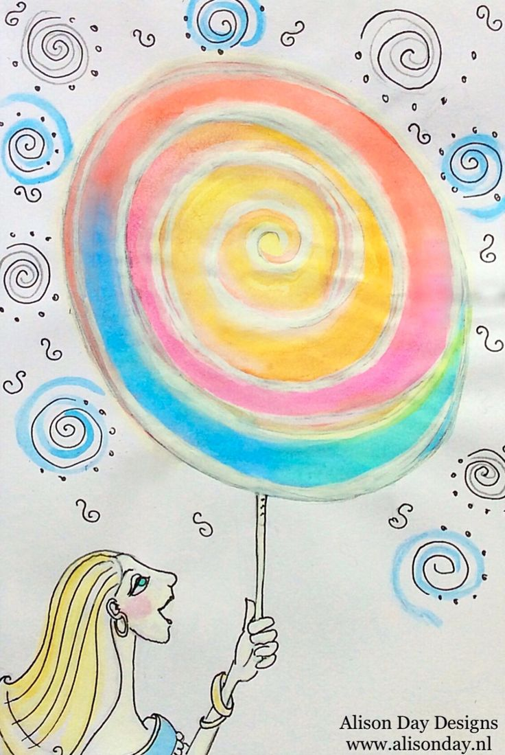 Lollipop - Children's art by Alison Day