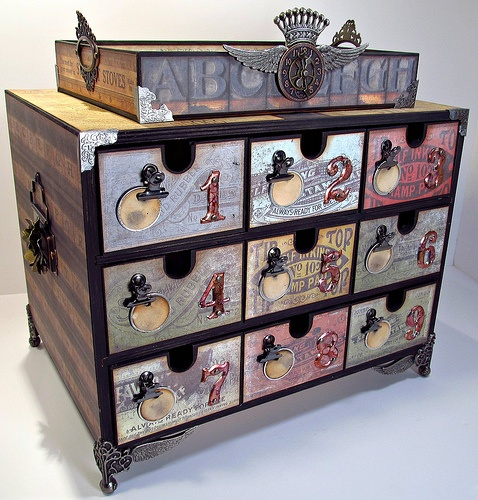Altered Box - I think this is an Ikea box, awesome alterations