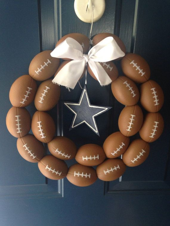 Dallas Cowboys Football Wreath by HartFilledDesigns on Etsy