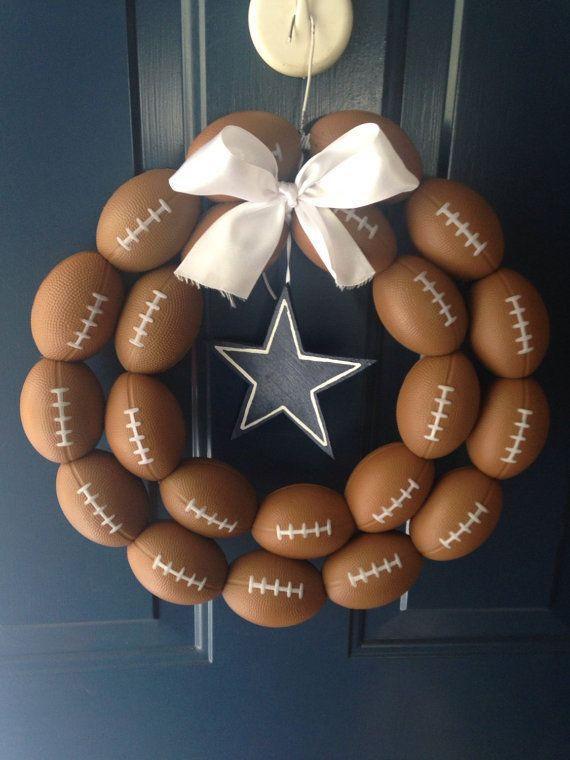Dallas Cowboys Football Wreath by NTgoodthings on Etsy