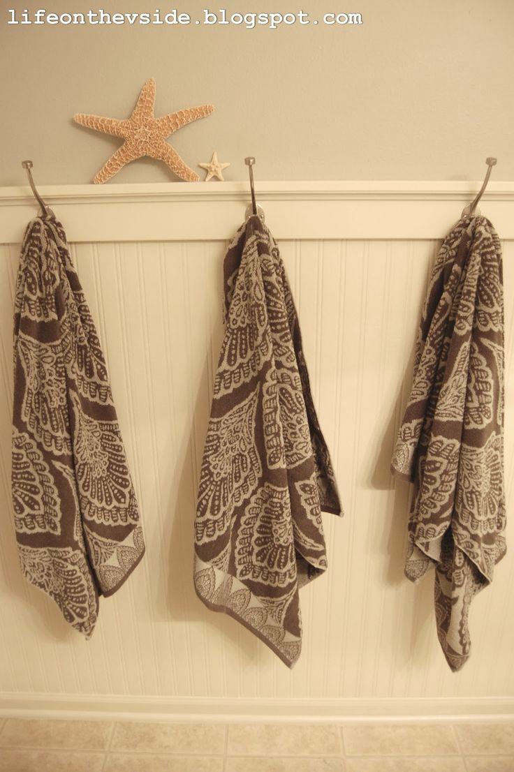 On the V Side: Bathroom-BEADBOARD WALLPAPER. ? linen closet