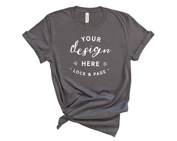 Download Free Asphalt Bella Canvas 3001 T Shirt Mockup On Plain Psd Shirt Mockup Tshirt Mockup Free Packaging Mockup
