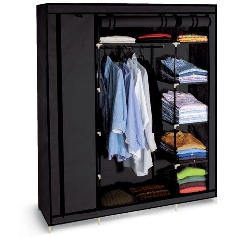 stunning en stock armoire de rangement noire dressing. Black Bedroom Furniture Sets. Home Design Ideas