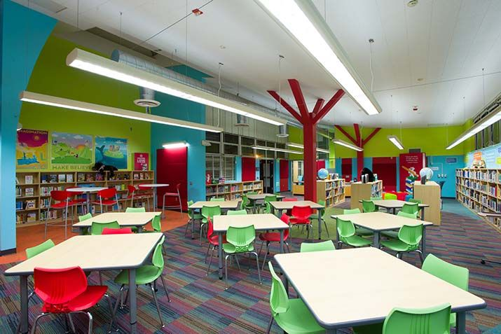 Library furniture for elementary schools recherche for Furniture design classes nyc