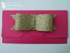 stampin up, envelope punch board, bow, schleife, umschlag din lang mit anleitung, tutorial