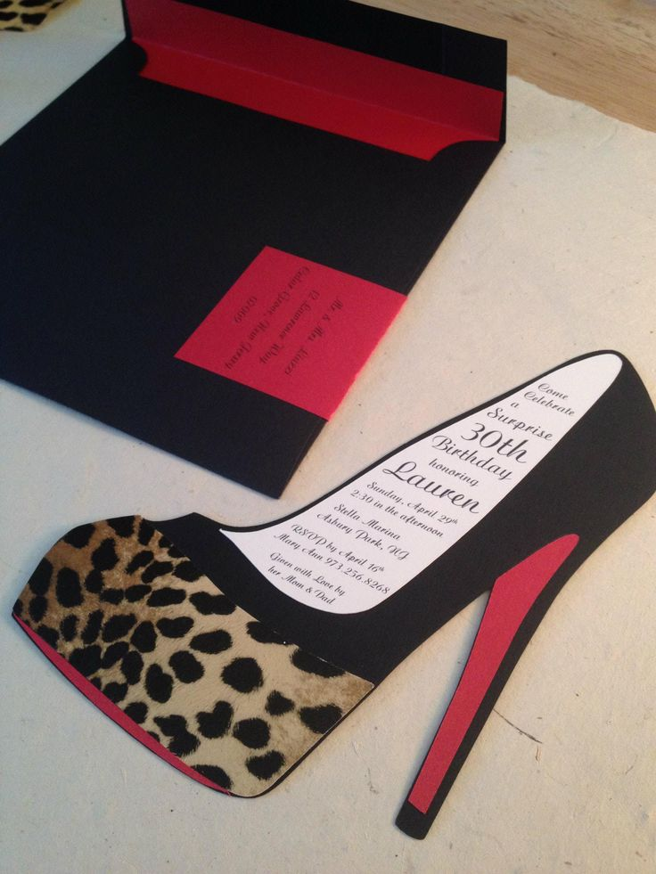 25 best images about Shoes – Shoe Party Invitations