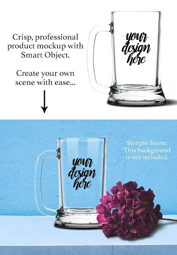 Beer Stein Mockup Template PSD. This product mockup psd template is perfect for vinyl decal and design shops (i.e.: Silhouette Cameo, Cricut…) or glass etching shops who need beautiful product listing images or mockups for customers. $10 https://crmrkt.com/6q5D?u=sarahdesign#ad