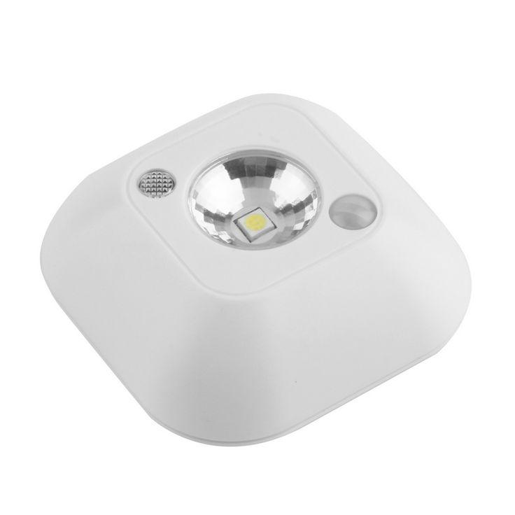 Mini wireless infrarrojos motion sensor de pórtico de la lámpara de techo de luz de la noche con pilas de la venta caliente