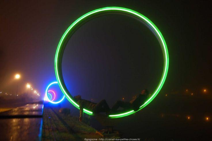 #Nantes la nuit, des hauteurs de la ville aux hangars à bananes / anneaux de Buren