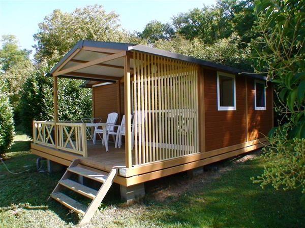 Chalet 5 personnes - Location camping Gironde (33) - Mobil home et chalet St Emilion - Camping du vieux château