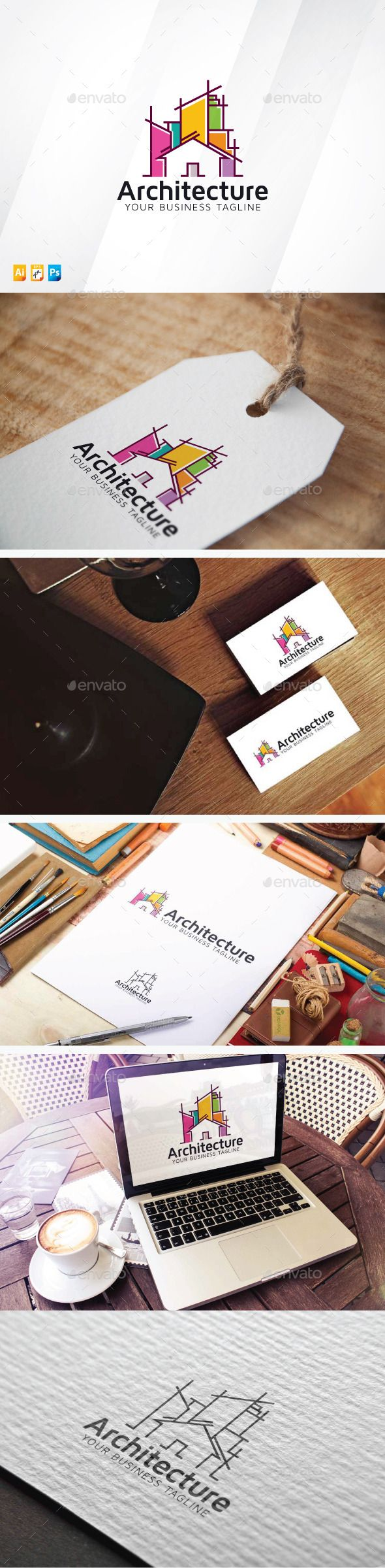 Architecture Logo Template #design #logotype Download: http://graphicriver.net/item/architecture-logo/13199762?ref=ksioks