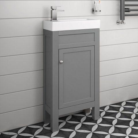 440mm Melbourne Earl Grey Floor Standing Vanity Unit - soak.com