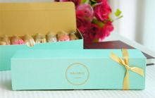 Papel de embalaje Cajas de Macarons hechos a mano Cajas Cake Box Bakery gallet Caja Verde(China (Mainland))