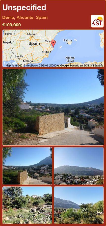 Unspecified in Denia, Alicante, Spain ►€109,000 #PropertyForSaleInSpain