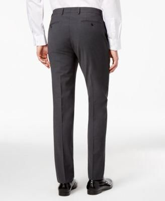 99e081980e4b69 Bar Iii Men s Skinny Fit Stretch Wrinkle-Resistant Charcoal Suit Pants