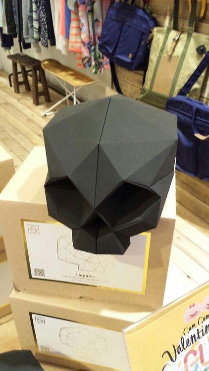 Origami (sort of) skull.... Hong Kong