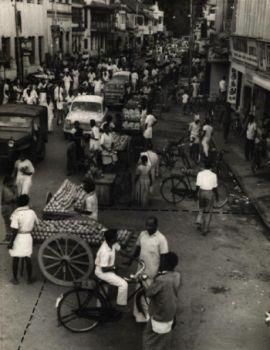 One of the bustling Mada Streets Where compound walls did not separate houses (1967). An article by Cho Ramaswamy.