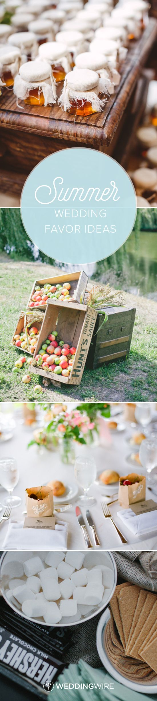 Summer wedding favor ideas - Find the perfect guest favor for your summer wedding on @weddingwire! {Mary Margaret Smith Photography, onelove photography, Tec Petaja Photography, For the Love of It}