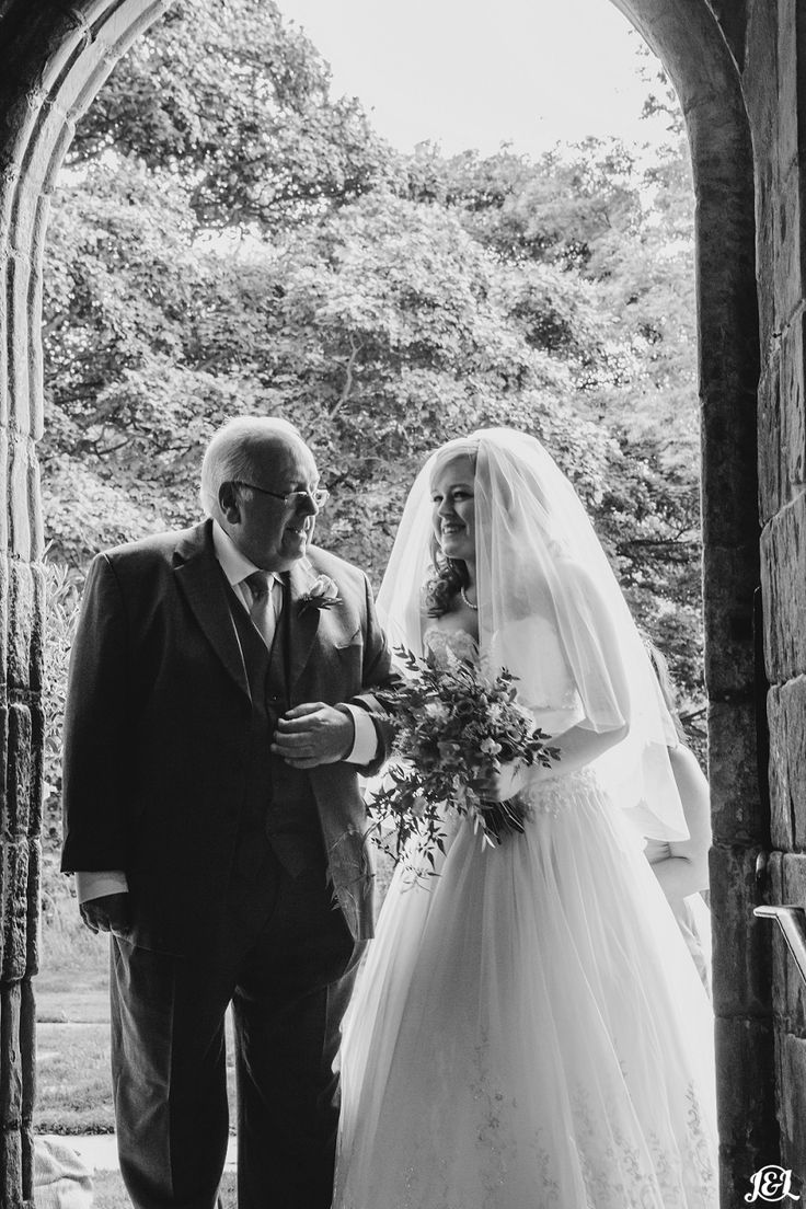 Bride and father of the bride entering the church. Lovely moment   Left Bank Leeds in Hyde Park, LS6.  Really wonderful jaw dropping stunning wedding venue that will truly appeal to those who want a unique epic venue for their wedding day.   Want to see more?   www.jamesandlianne.com  Yorkshire based wedding photography offering fine art wedding photography across the UK and Europe.  Specialist in relaxed, unposed, reportage photography. Capturing the day as you remember it.