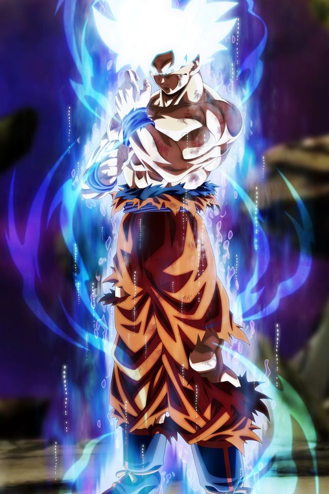 Dragon Ball Super Poster Goku Ultra Instinct Mastered 12x18 Inches Free Shipping Dragon Ball Super Goku Anime Dragon Ball Super Dragon Ball