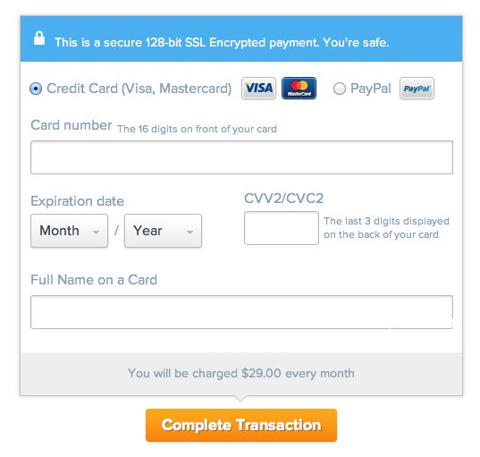 UXPin Credit Card Form UI Design Pattern