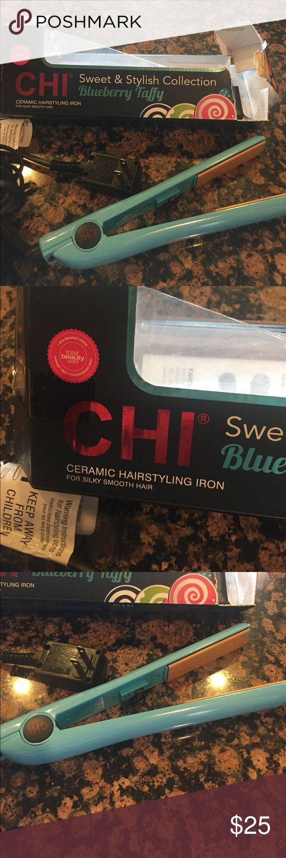 New Chi flat iron! We have too many! Only used once and in great working condition. My daughter decided not to straighten her hair any longer! Paid $58 at Marshall's. I do not have original receipt. Will ship box, warranty and all you see in pictures. Accessories Hair Accessories